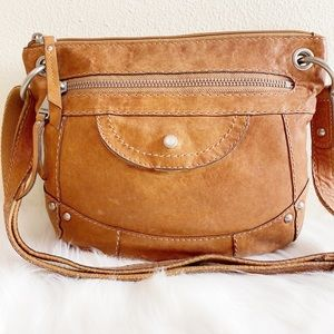 Fossil Long Live Vintage Leather Hobo Crossbody